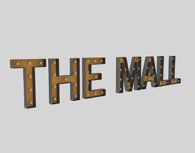 the 3D model The Mall Sign With Bulb