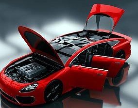 3D model Generic Extended Wheelbase 4 Door Coupe