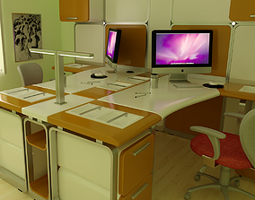 3D model Office Interior 03 table