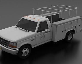 3D model F-350 1992-1997 DRW Regular Cab Service Utility