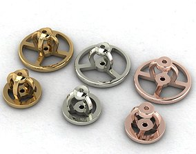 Clasp earrings 3D printable model