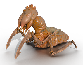 Stylized insect monster PBR low-poly game ready 3D asset