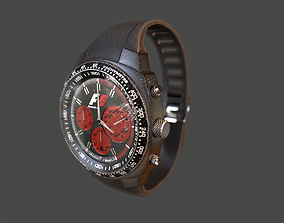 3D model Wristwatch - Dirty Old watch PBR Game Ready