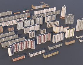 3D Russian buildings pack