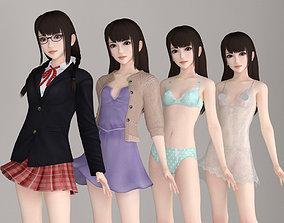 Aoi various outfit pose 01 3D