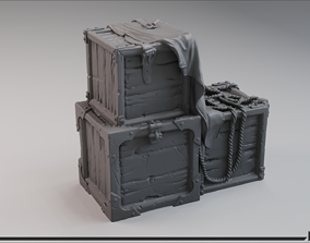 3D print model Medieval Tarped Crate A
