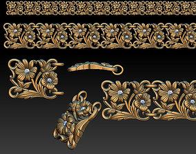 3D printable model Flower braselet
