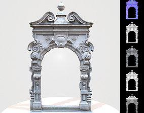 Stylised Concrete Passage Way Door 3D model