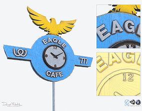 Eagle Cafe Motorway Sign 3D model