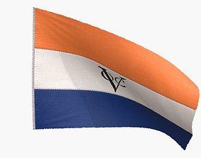 Dutch East Indies Company Flag 3D asset