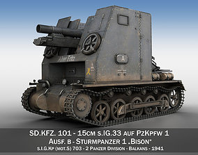 Sturmpanzer 1 - Bison - Alter Fritz - 2PzDiv 3D model