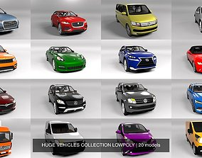 3D model HUGE VEHICLES COLLECTION LOWPOLY