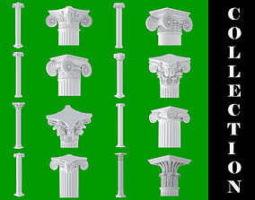 8 Classic Columns Collection 3D