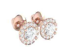 solitaire women earrings 3dm 12 render detail