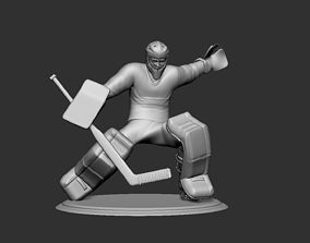 Hockey Player goalie Collectible Figure Statue 3D Print 1