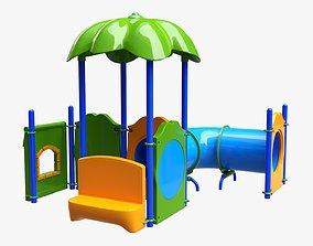 Kids playground outdoor 02 3D model