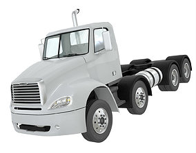 Freightliner Columbia 2017 4-axle chassis Base 3D