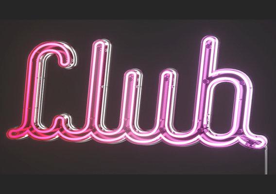 Neon Words CGI
