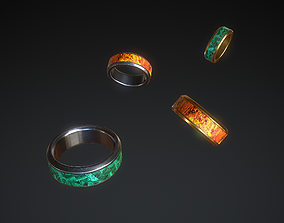 3D asset Old Rings