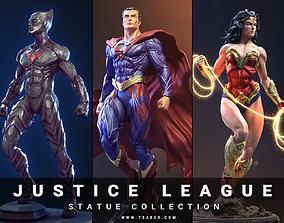Justice League collectibles Statues 3D model