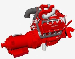 Compact V8 twin turbo 3D