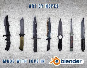 3D asset CS GO Full Knife Pack 2021