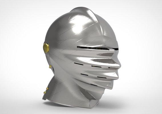 German Close Helmet - Maximilian - Mantelhelm Low-poly