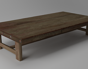 Medieval table 3D asset low-poly