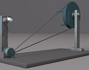3D model animated Electric Generator