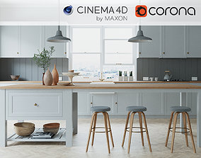 3D Corona - C4D Scene files - French Country Kitchen