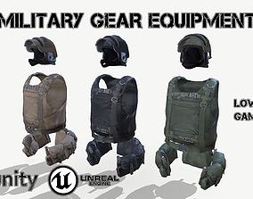3D asset Military Gear Equipment