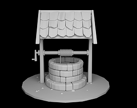 Low poly Well 3D model VR / AR ready