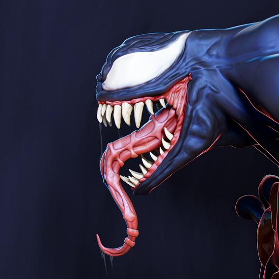 Venom x Default Cube Marvel Super villain Miniature sculpt