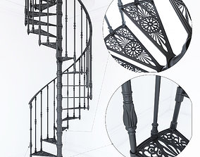 3D model Iron Spiral Staircases MODUS