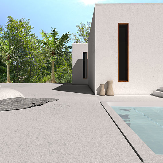 outdoor visualization, vray rendering, material details