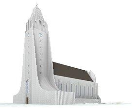 3D model Hallgrimskirkja Reykjavik Iceland