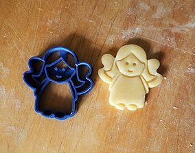 Angel cookie cutter version 2 3D print model