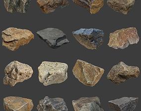 Stones Pack 3D asset