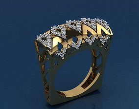 cad Gold Ring 3D print model 3D print model