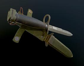 3D asset M7 Bayonet