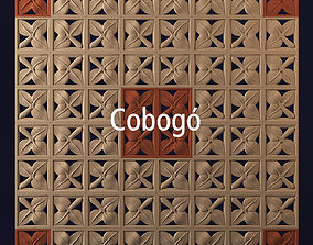 3D model Cobogo geometrical panel 2
