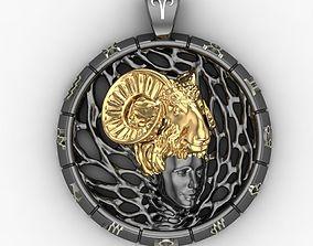 3D print model Zodiac sign Pendant Aries