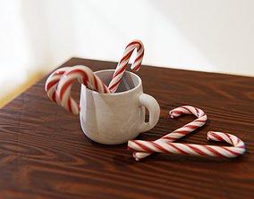 Candy Cane 3D asset