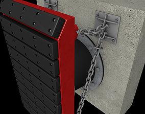 C4D dock fender 3D