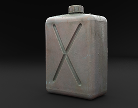 3D model Scanned Old Jerrycan RAW SCAN