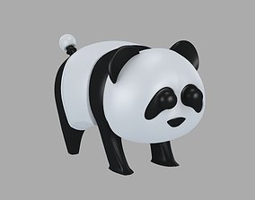 3D model VR / AR ready TOY PANDA