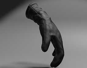 3D model animated Leather glove low-poly