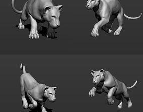 Tiger 4 poses 3D print model