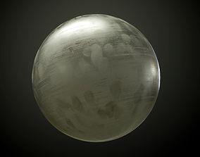 Metal Chrome Scratched Brushed Seamless PBR 3D model