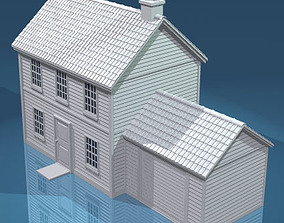 House with rooftiles 3D